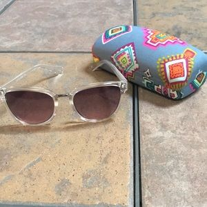 Lucky Brand sun glasses and case